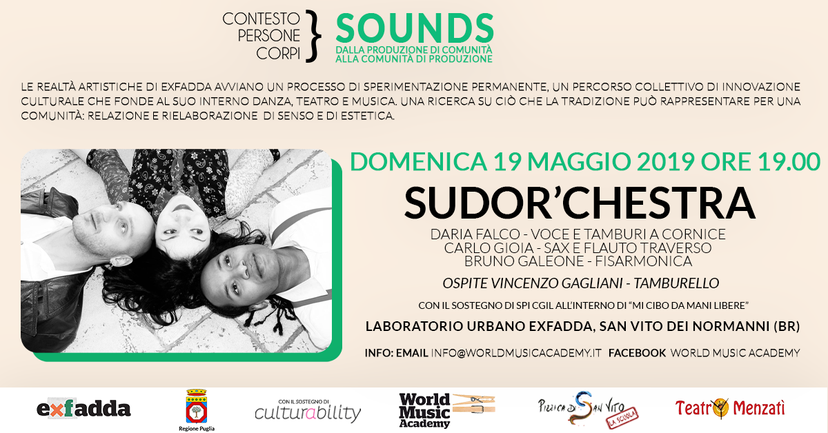 ContestoPersoneCorpi, World Music, Sounds, Sudor'chestra