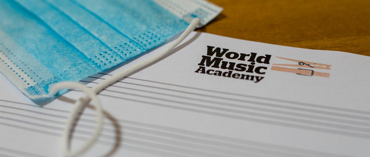 Mascherina, ripresa, attività, scuola di musica, pentagramma, world music academy