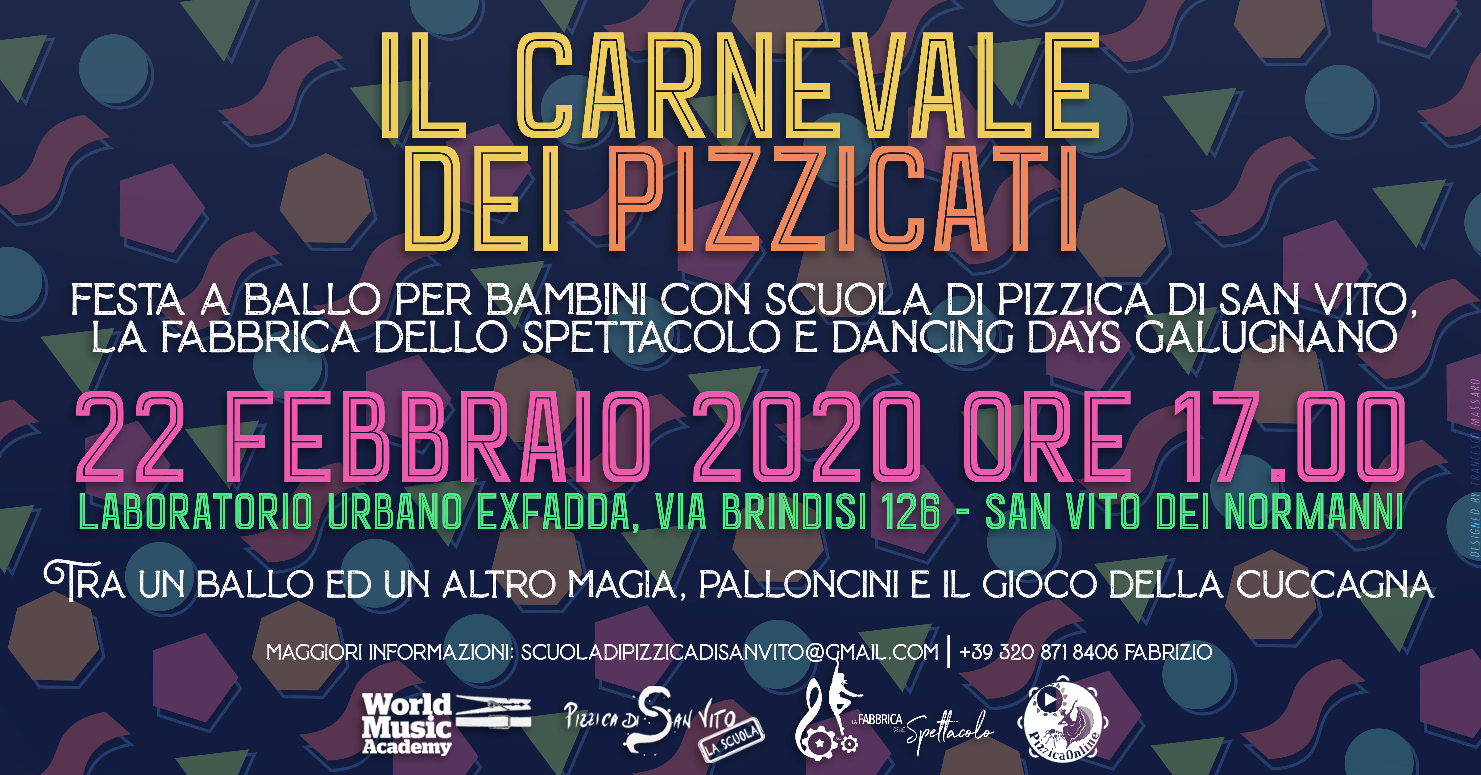 Il carnevale dei pizzicati, world music, scuola di pizzica, bambini, scuola di pizzica di san vito, pizzica pizzica
