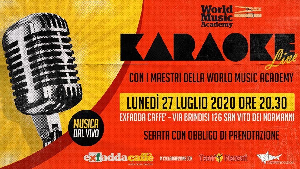 Karaoke. live, musica dal vivo, comunità, worldmusicacademy